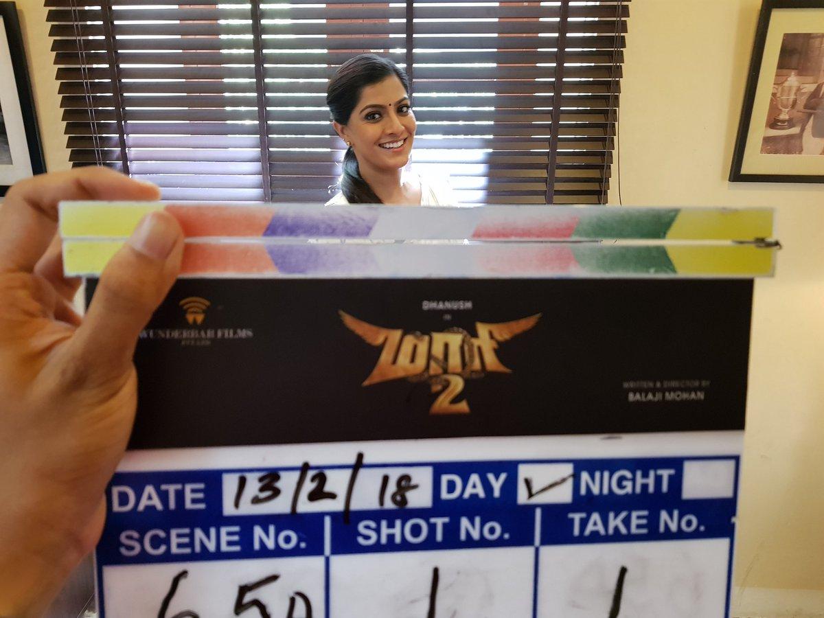 Varalaxmi Sarathkumar begins shooting for Maari2
