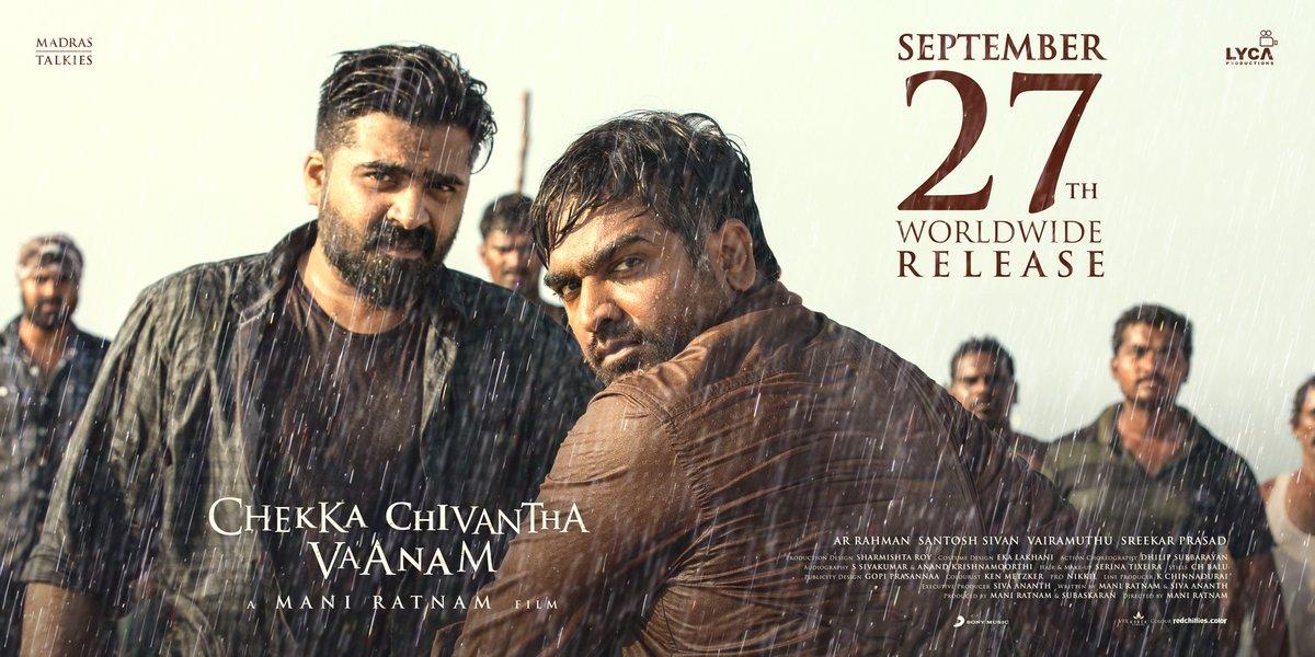 ChekkaChivanthaVaanam releasing worldwide on 27th of September – CCV – ManiRatnam