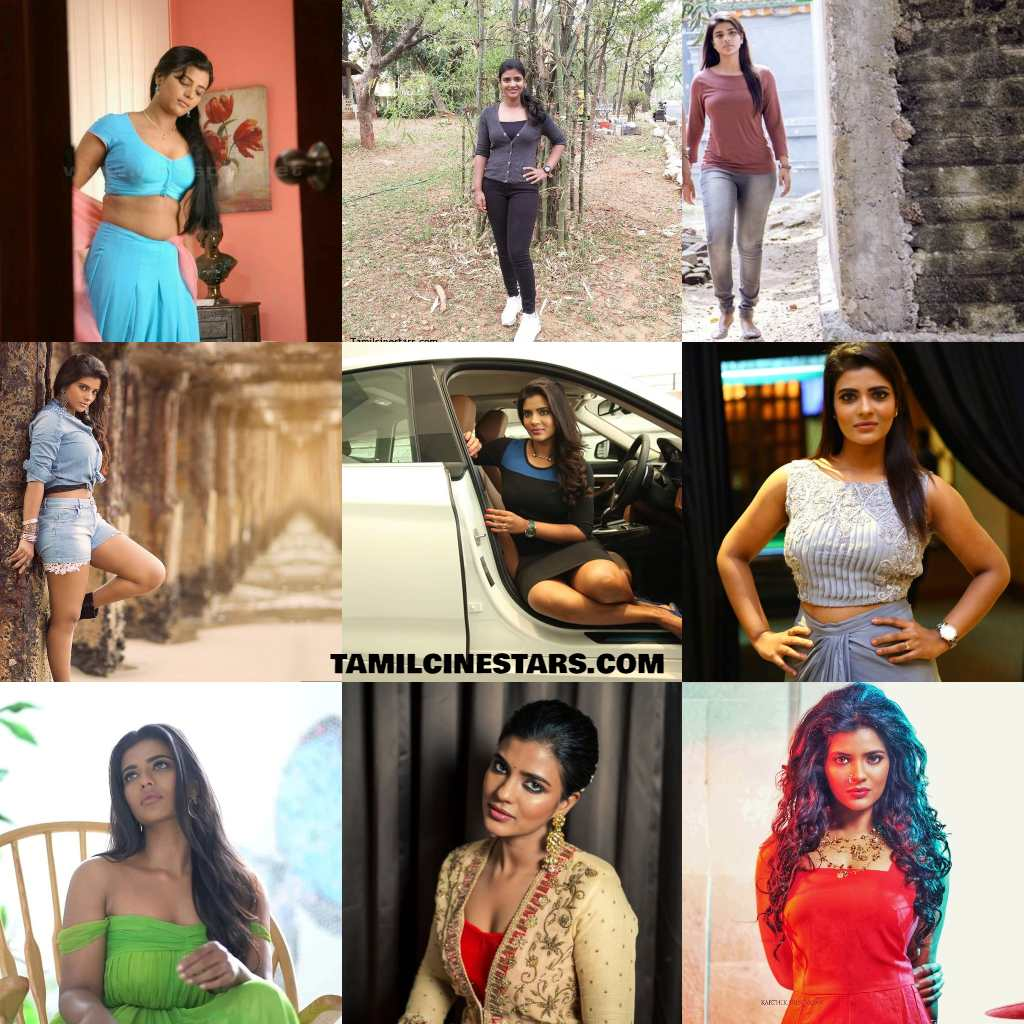 Dusky beauty Actress Aishwarya Rajesh photo collage gallery stills
