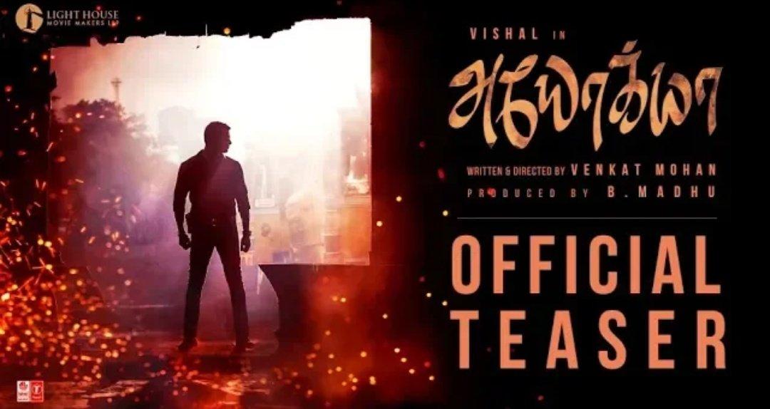 Ayogya Official Teaser Trailer-Vishal-RaashiKhanna-rparthiepan-Venkat Mohan
