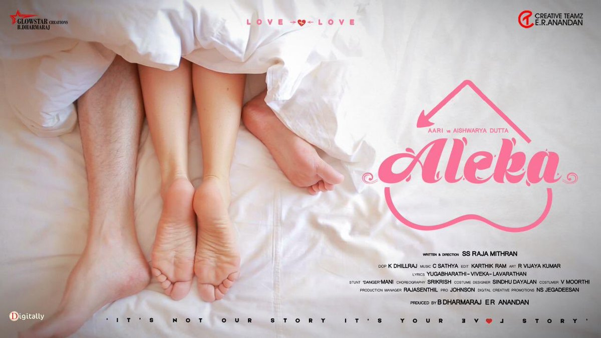 Happy-announce-forthcoming-movie-titled-as-Aleka-not-our-love-story-urs-aari-vs-Aishwarya-Dutta
