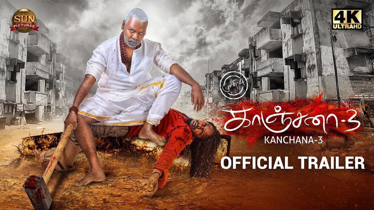 KANCHANA 3 - Official Trailer - Raghava Lawrence - Oviya helen - Sun Pictures