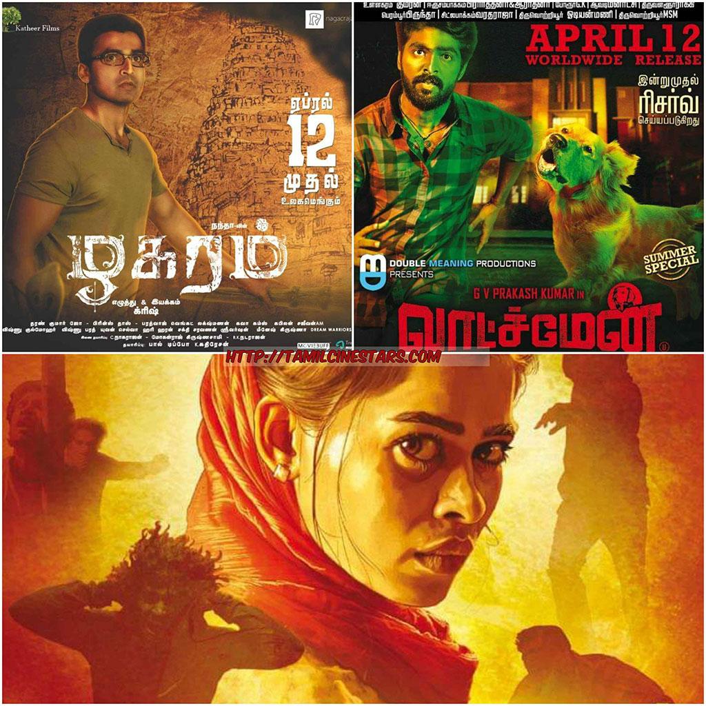 Movies releasing this week – April 12 – watchmen-gangsofmadras-zhagaram