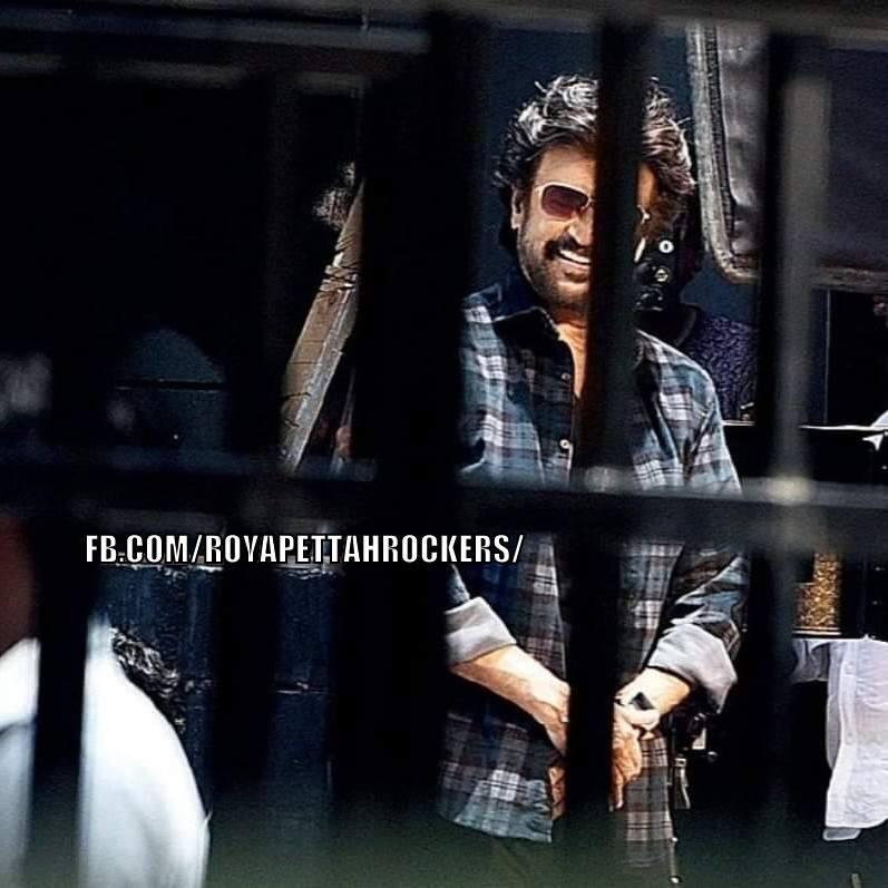 Stills of Superstar Rajinikanth and Nayanthara from the shooting spot of Darbar