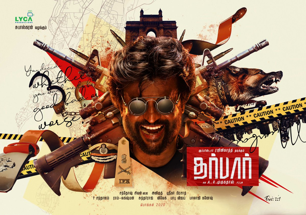 Official: #Thalaivar167 titled #Darbar - You Decide Whether You Want Me To Be Good, Bad, or Worse #SuperstarRajinikanth plays a cop. Directed by @ARMurugadoss #Pongal2020 release