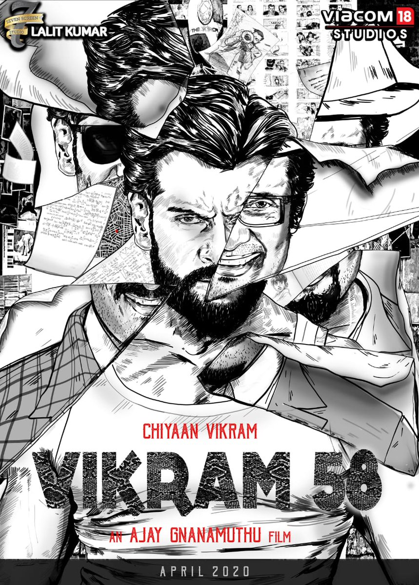 7screenstudio-Viacom 18 Studios jointly present Chiyaan Vikram 58 high octane action thriller directed by Ajay Gnanamuthu Shoots starts from Aug 2019