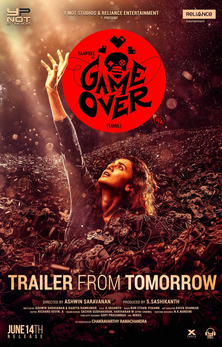 Game Over-HD Tamil Official Trailer- Starring Taapsee Pannu - Director Ashwin Saravanan - Y Not Studios from June 14