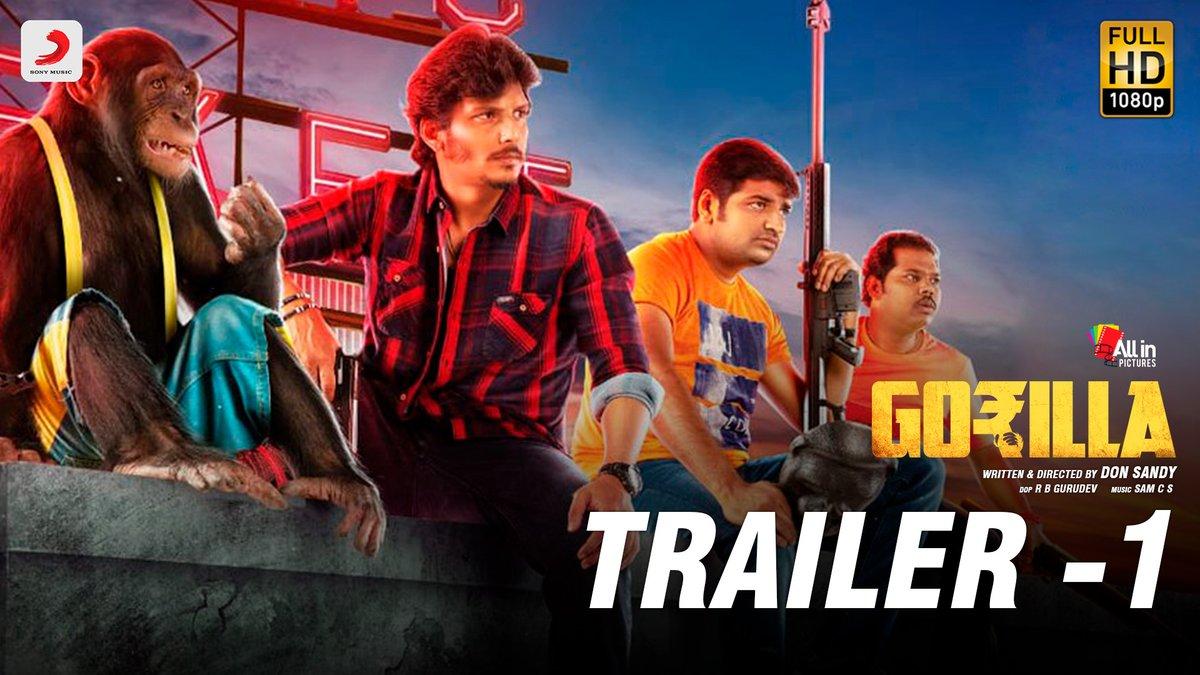 Gorilla - Official Tamil Trailer 1 - Jiiva, Shalini Pandey, Yogi Babu, Sathish - Sam CS - DonSandy