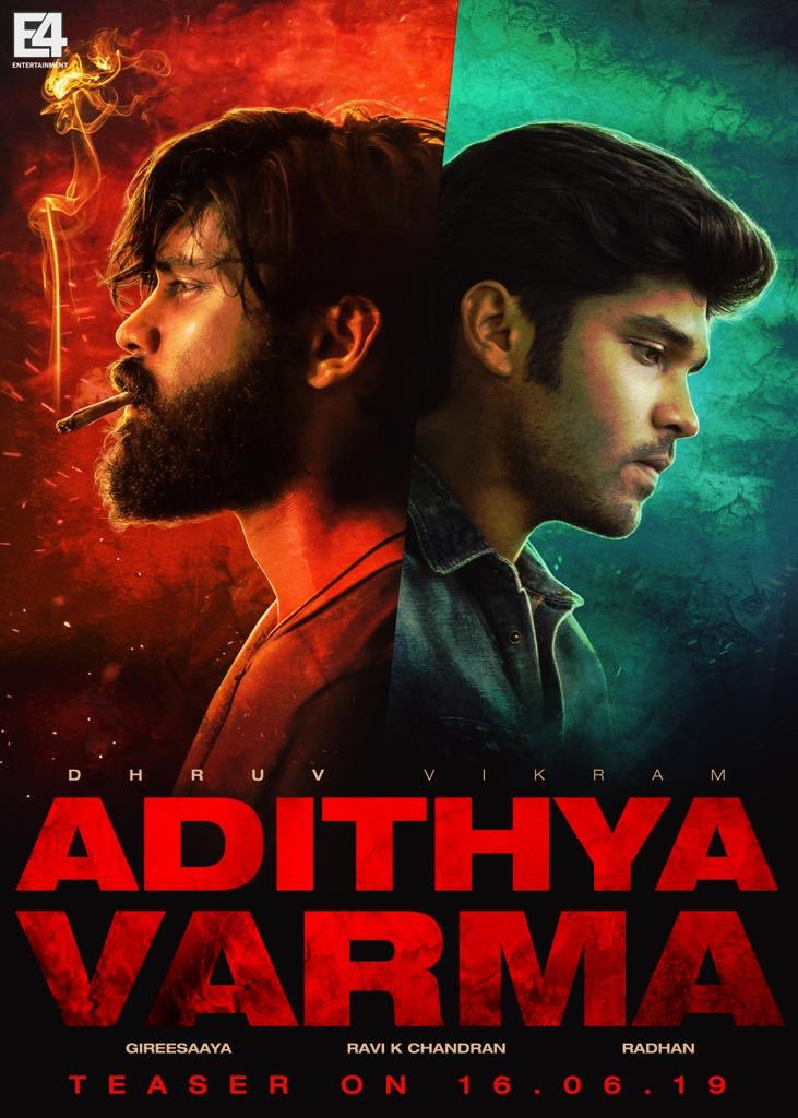DhruvVikram-AdithyaVarma teaser to be out on June 16th