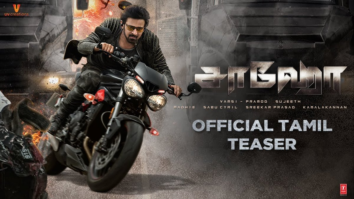 Saaho Official Teaser Tamil on UV Creations. #Saaho is a Multi-Lingual Indian Movie ft. Rebel Star Prabhas and Shraddha Kapoor.