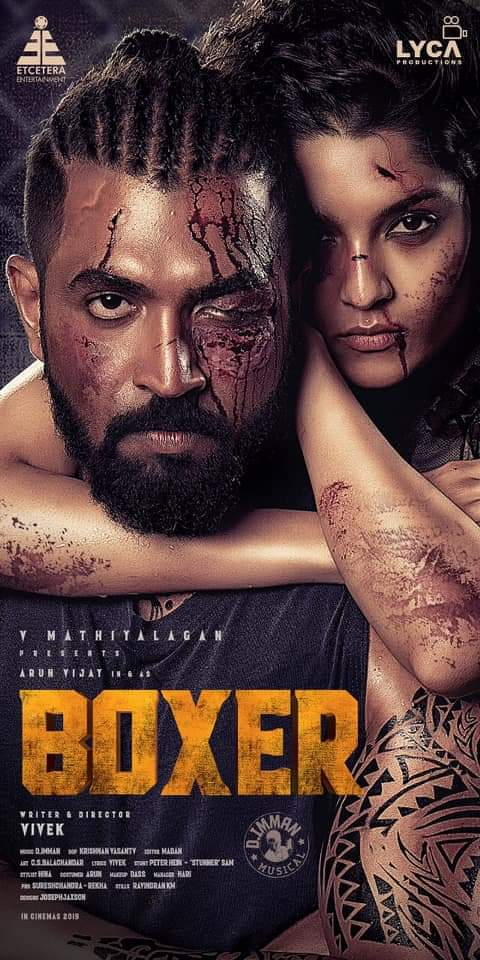 Arun vijay and Ritika singh starrer Boxer movie first look posters are out Looks like a true professional boxer