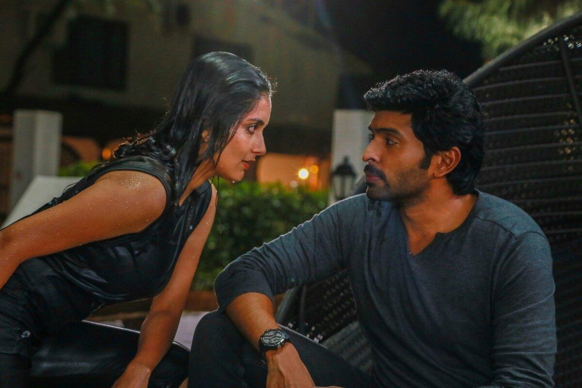 vikram-prabhu-with-gorgeous-wet-sexy-teen-actress-mahima-nambiar-asuraguru-movie-hot-stills