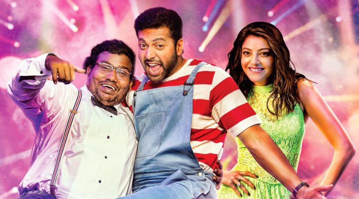 Comali move review Starring Jayam ravi Kajal Aggarwal yogi babu
