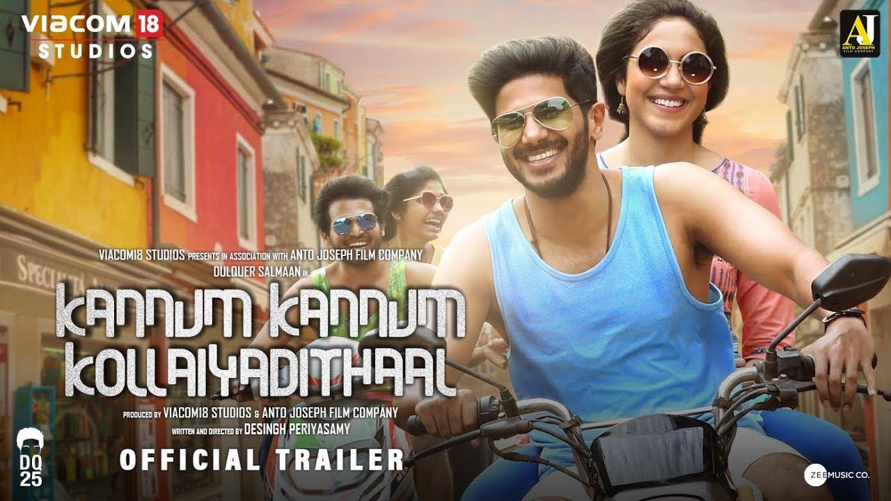 Kannum Kannum Kollaiyadithaal Official Trailer starring Dulquer Salmaan Ritu Varma Gautham vasudev menon