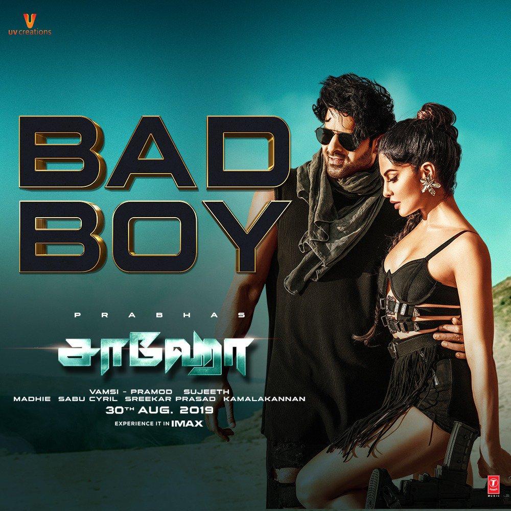 Saaho movie Bad Boy video Song Prabhas Jacqueline Fernandez Badshah Benny Dayal Sunitha Sarathy