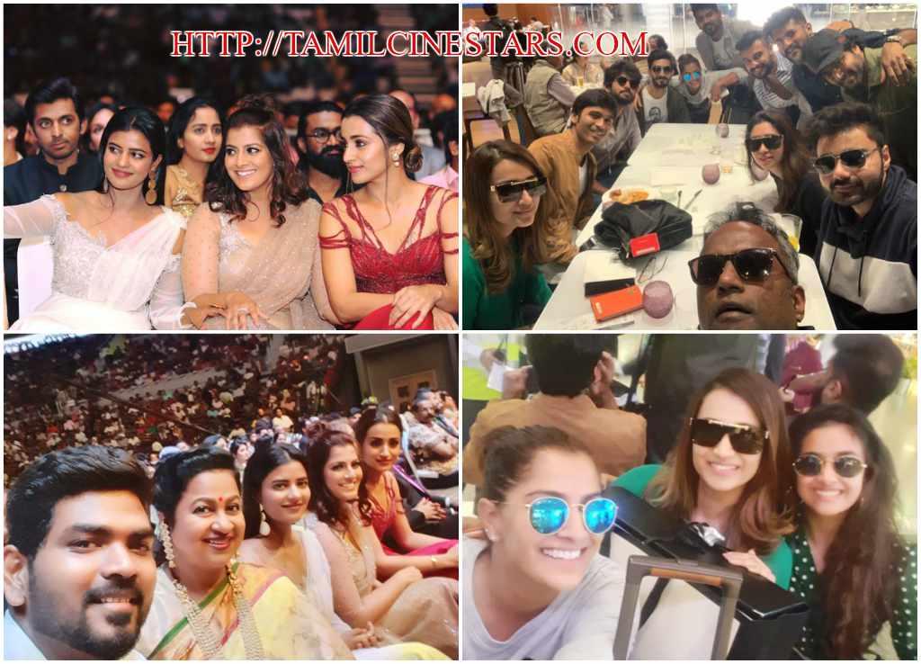 actor Actresses radhika director vignesh shivan varu sarath siima awards selfie moments collage