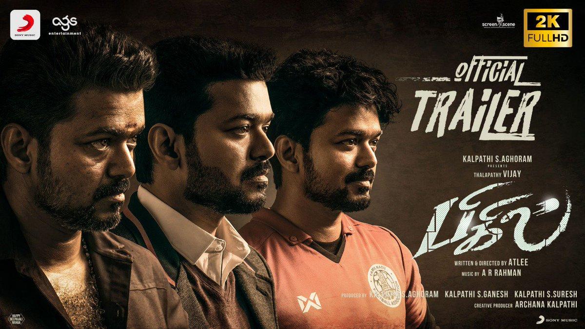 Bigil - Official Trailer Thalapathy Vijay Nayanthara A.R Rahman Atlee AGS