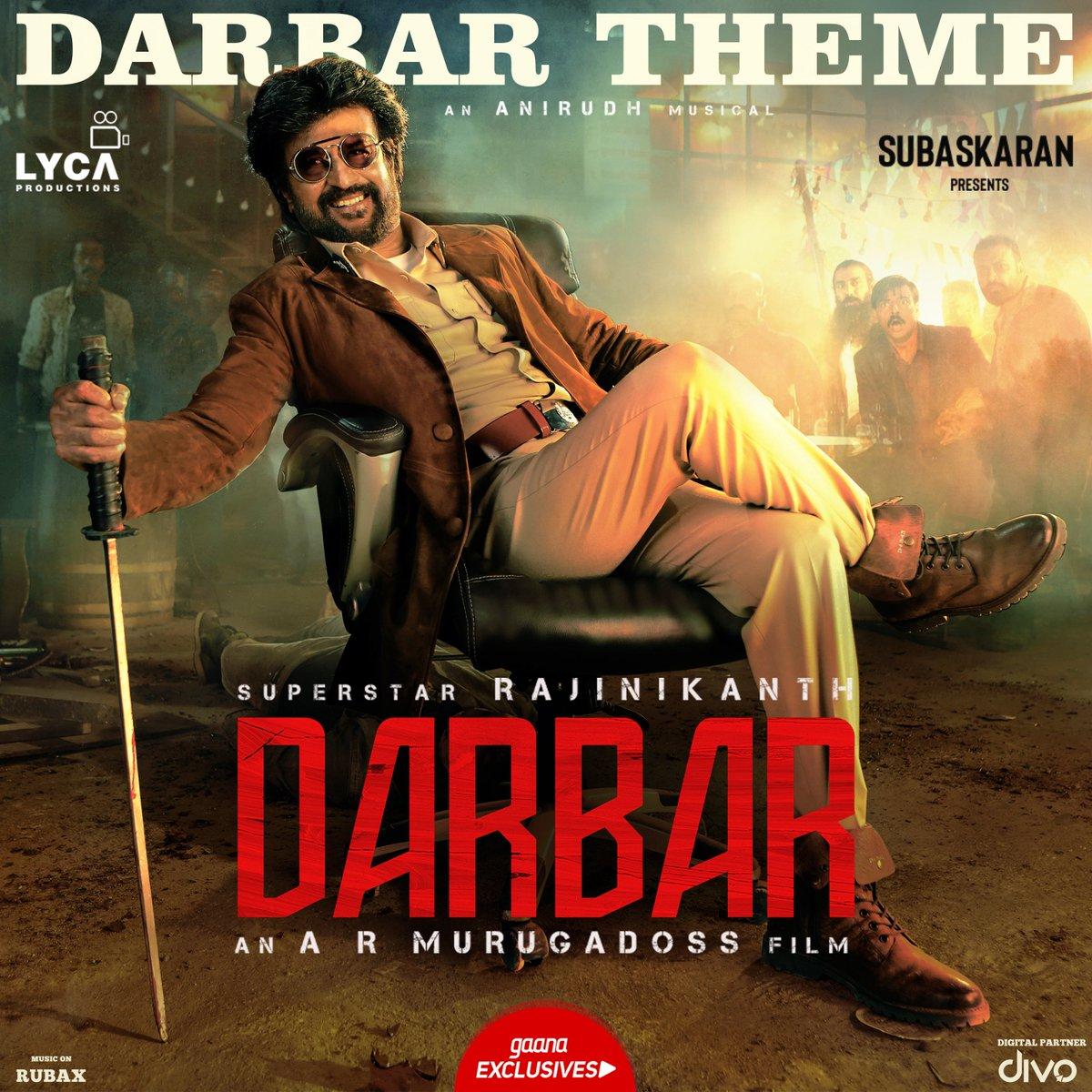 DARBAR Tamil Motion Poster Starring Rajinikanth Directed by A.R. Murugadoss