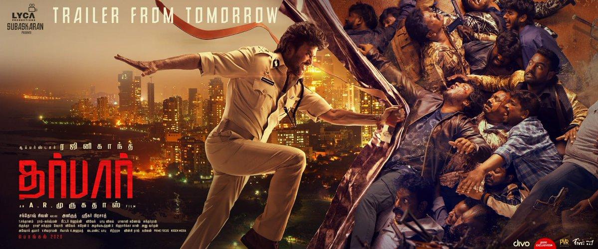 DARBAR Official Tamil Trailer Starring Rajinikanth Directed by A.R. Murugadoss