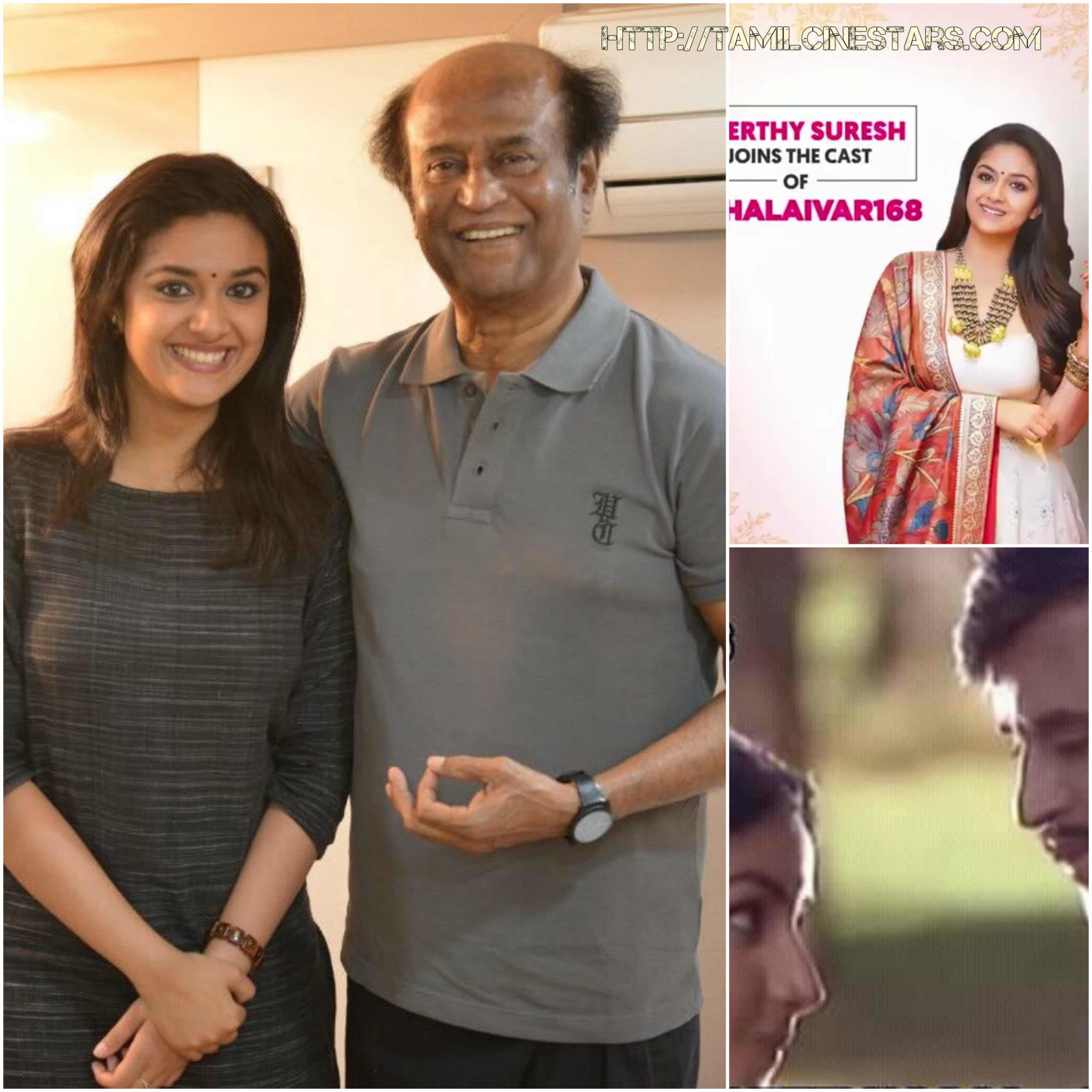 Super star Rajinikanth achieves rare record by Pairing with keerthy suresh in Thalaivar 168