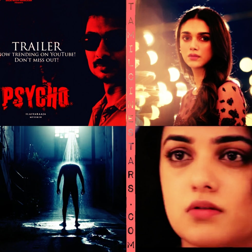 Psycho Tamil Trailer Starring Udhayanidhi Stalin Aditi Rao Hydari directed by Mysskin