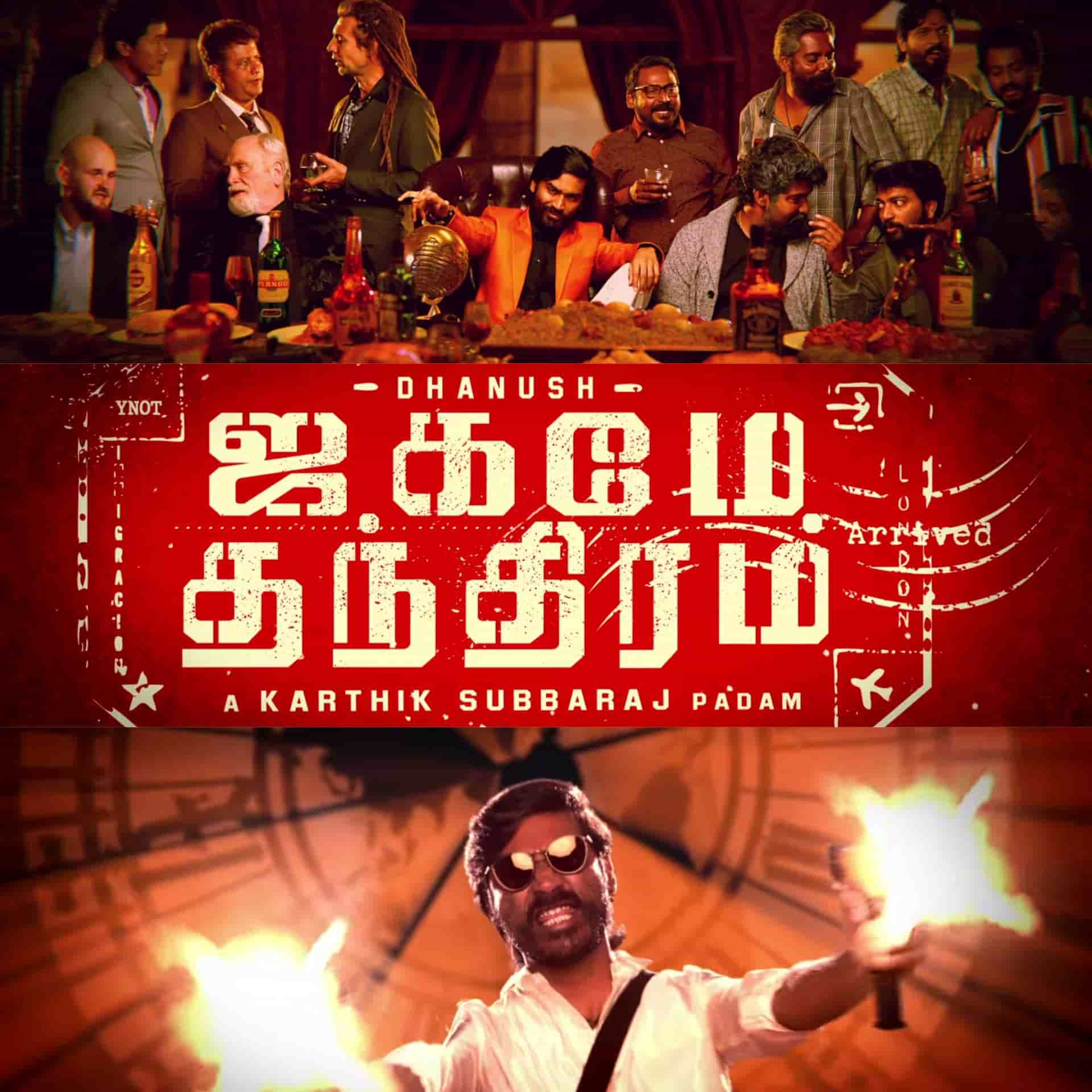 Jagame Thanthiram first second look poster is here directed by Karthik Subbaraj