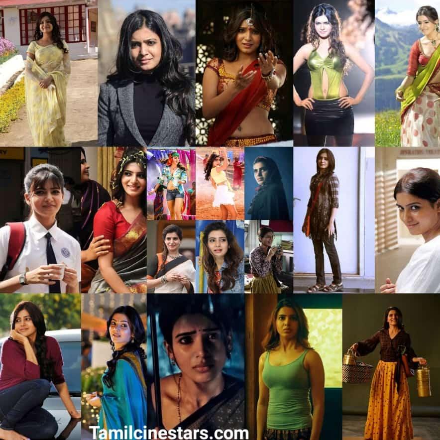 Happy Birthday Samantha Akkineni Beautiful collages Best Films of Samantha