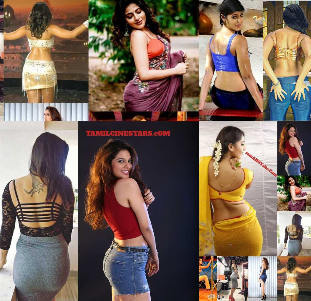 Hot Back Pose Show of Tamil Telugu Malayalam Bollywood Actress