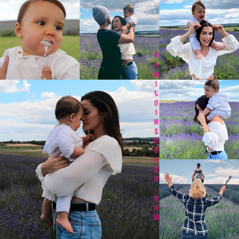 Actress Amy Jackson with her son Andreas cute images gallery