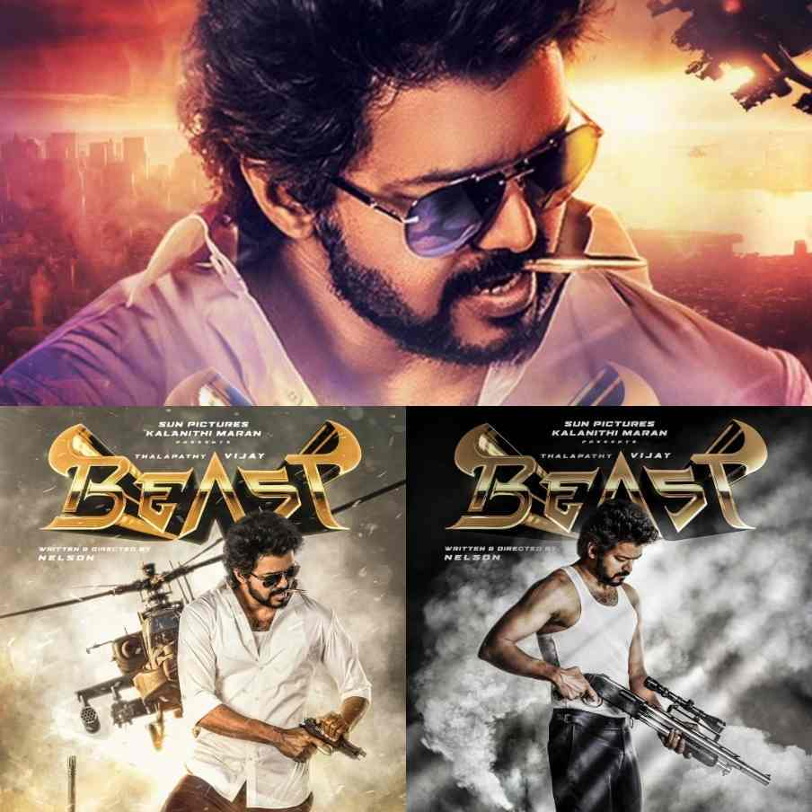 Thalapathy Vijay Beast First and Second Look Motion Posters