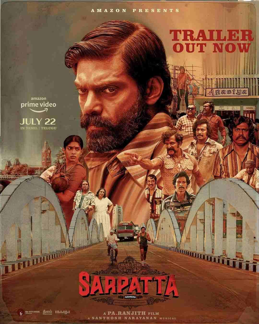 Arya Pa Ranjith's Sarpatta Parambarai Official Trailer