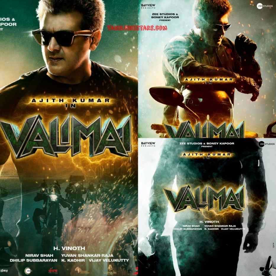 Valimai First Look and Motion Posters featuring Thala Ajith Directed by Vinoth H
